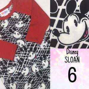 LuLaRoe KIDS 6 DISNEY Sloan Top Mickey Mouse